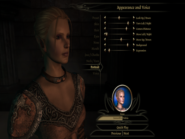 Although, in this case, I also made her ears tiny and messed with the default portrait.