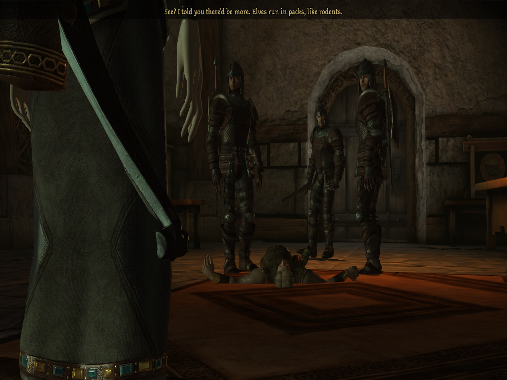 Where my groom-to-be gets himself cut down. There goes my ticket out of fighting Darkspawn.