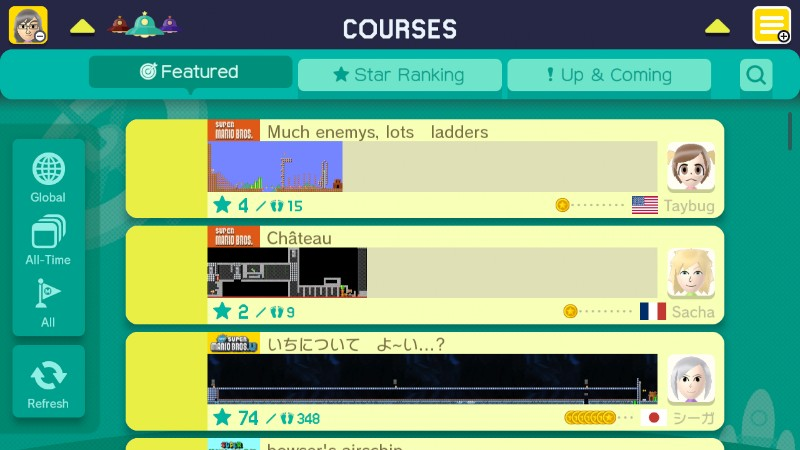 mario maker course world