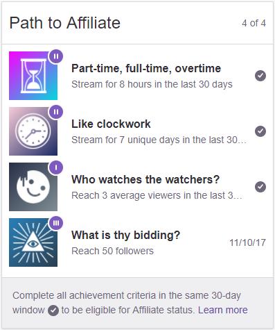 Ranneko Plays Twitch Achievements - Channel Update 2017-12