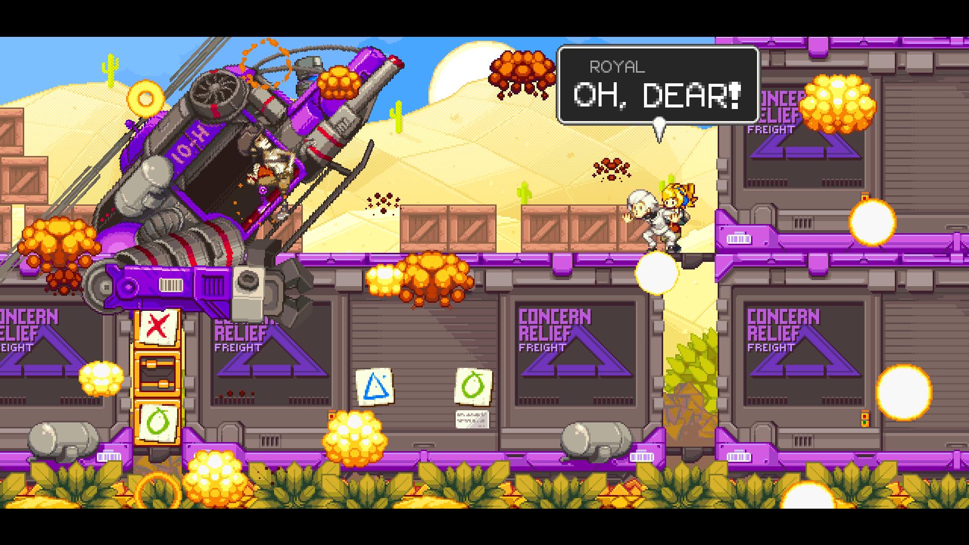 Ничего необычного для данной игры - просто вертовлёт взрывается, на взрывающемся поезеде, который останавливает эмпат...